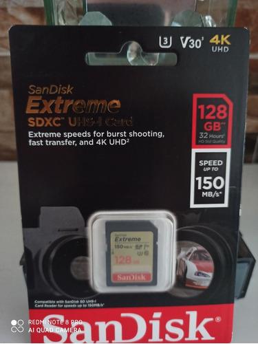 Memoria Sandisk Extreme 128 Gb Sdxc Uhs-l Card  4 K