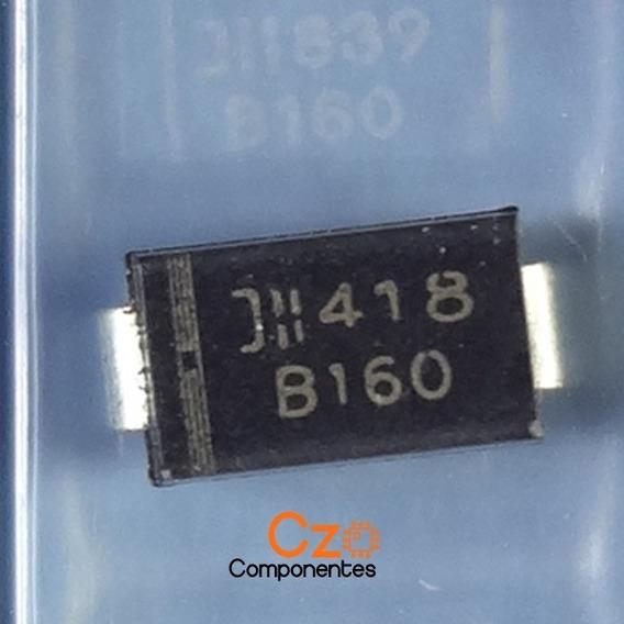 5 Pçs Diodo B160 Original - B 160 - 1a 60v - Do-214ac