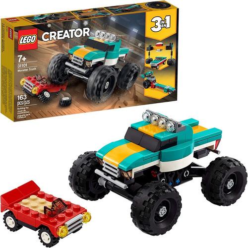 Lego Creator 3en1 Monster Truck Toy 31101 Cool Building 163p