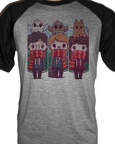 Camiseta Raglan Harry Potter, Rony E Hermione
