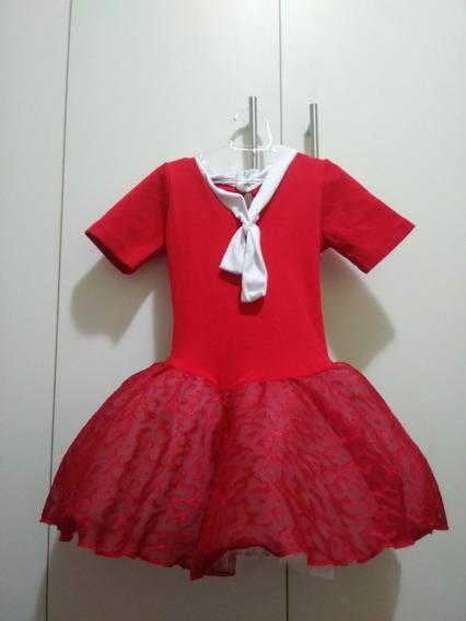 Vestido Infantil Gg - Bailarina Ballet Collant Vermelho