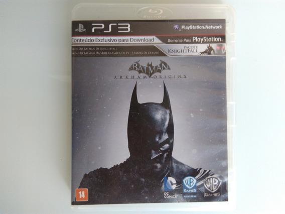 Batman Arkham Origins Ps3 Original Mídia Física Br Cib