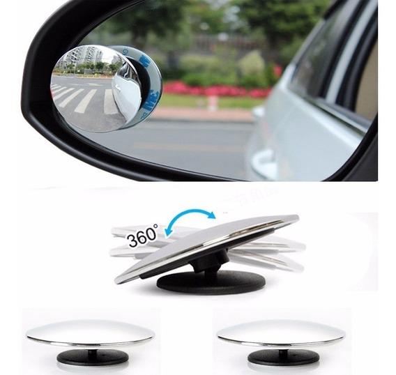 Espelho Auxiliar Convexo Articulável Carro Moto Van 50mm Par