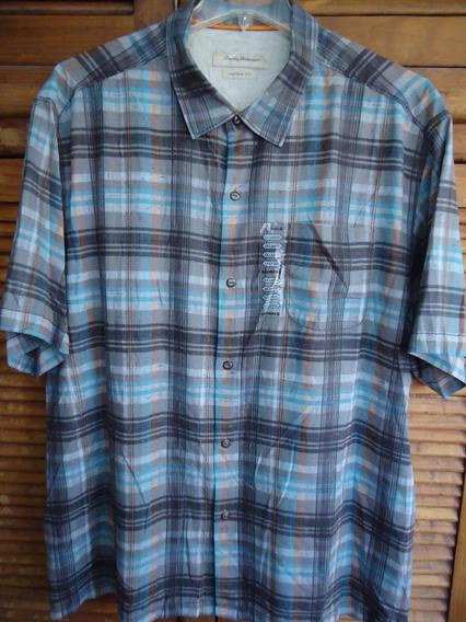 Tommy Bahama Camisa Talla 2 Xl Seda 100%