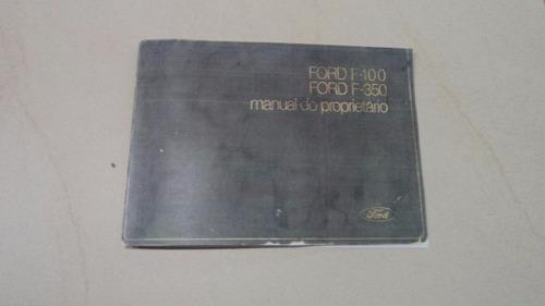 Ford F-100 1972 A 1980 Manual De Instruções