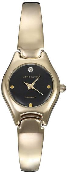 Reloj Anne Klein Dorado Diamond Minimalista Envio Gratis