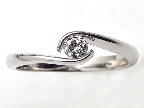 Anillo De Compromiso Diamante Natural 10 Puntos Oro 14k