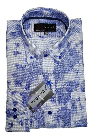 Camisa Talle Especial Estampada 48/50 Muy Fina Confección