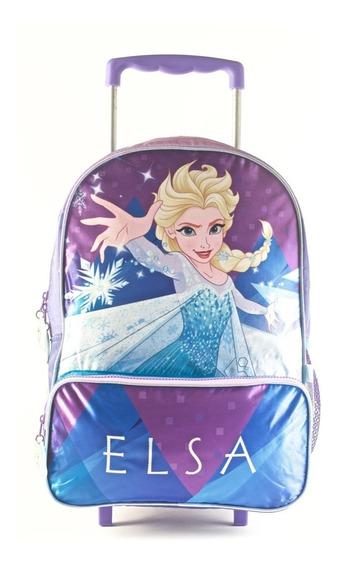 Mochila Carro 16puLG Disney Princesas Frozen Mundo Manias