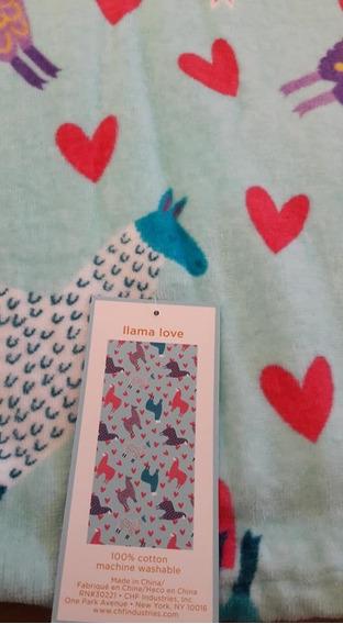 Toalha Lamas E Corações Banhão