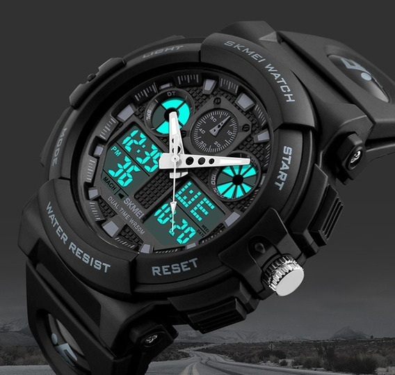 Relógio Masculino De Borracha Digital Skmei Frete Grátis