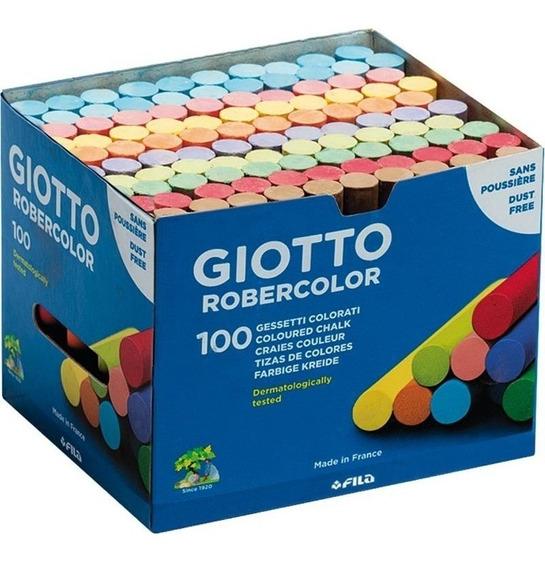 Giz Escolar Giotto Robercolor 100 Unidades Colorido