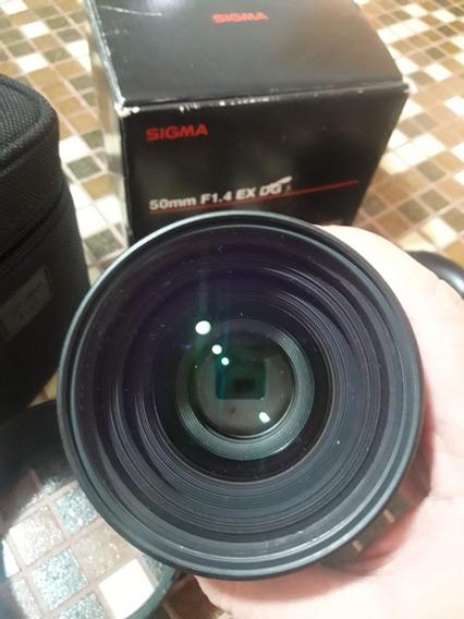 Lente Sigma Nikon Dg 50mm F1.4 Ex Hsm