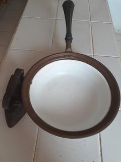 Sarten Antiguo Bronce Porselanisado Patente 23 D Mayo 1899