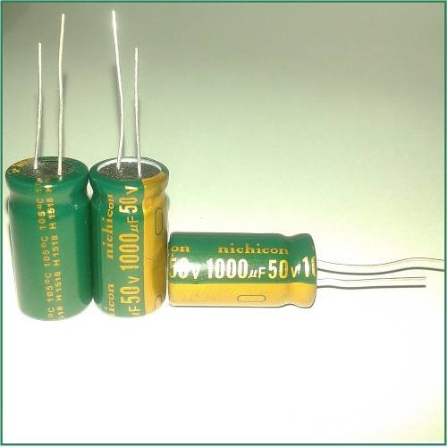 Capacitor Eletrolítico 1000uf 50v 105º 40 Unidades