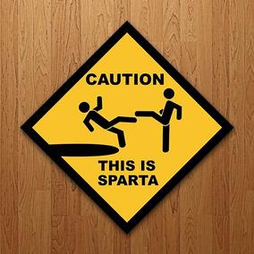 Placa Decorativa Filme 300 - This Is Sparta