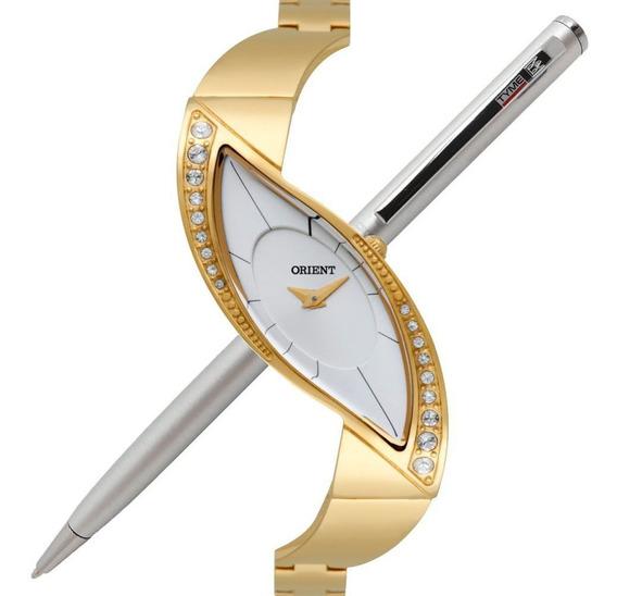Relógio Orient Feminino Cristais Swarovski Lgss0051 S1kx Nfe