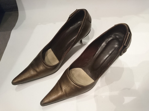 Zapatos Stiletto Paruolo Color Cobre Talle 38 Un Uso