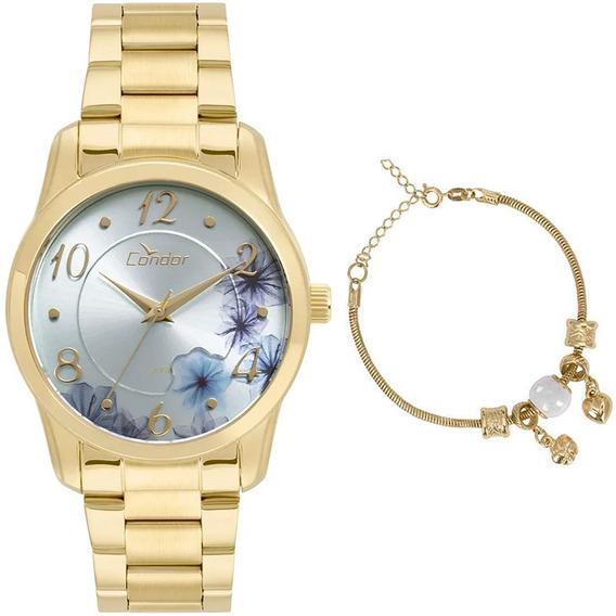 Kit Relógio Condor Feminino Co2039at/k4a C/ Garantia E Nf