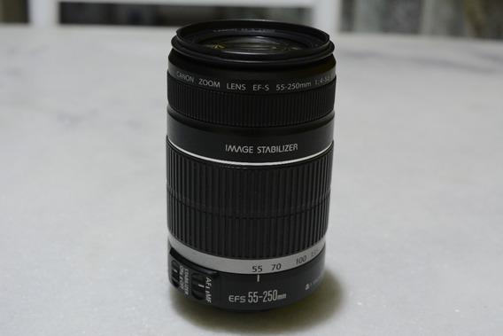 Lente Canon Ef-s 55-250mm F/4-5.6 Usada