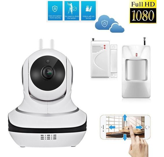 Camera Ip Alarme Com Sensores 1080p Wifi Cloud App Home Care