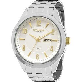 Relógio Technos Automático Masculino Original Nfe 8205nj/3k