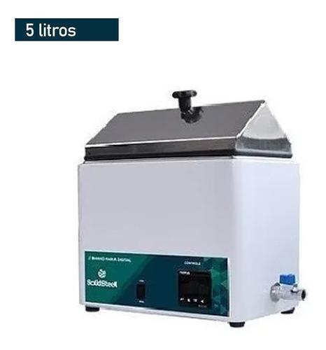 Banho Maria Digital P/ Laboratório 5 Litros Ssd5l Solidsteel