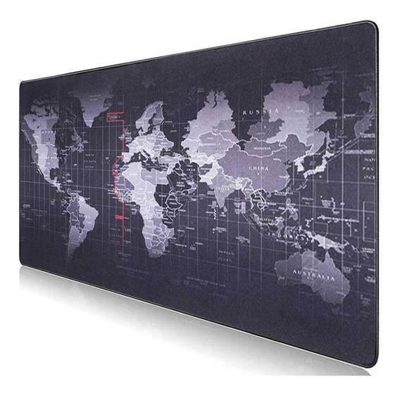 Mouse Pad Gamer Mapa Mundo Mundi Extra Grande 70x35cm
