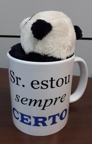 Imagem 1 de 7 de Presente Namorado Ursinho Panda Caneca Sr Estou Sempre Certo