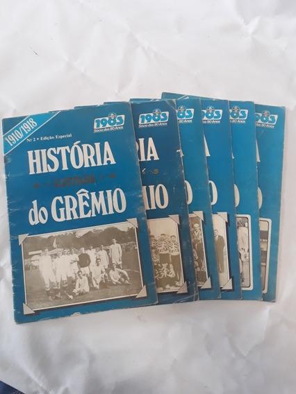 Coleção Livros Historia Ilustrada Do Grêmio 6 Volumes