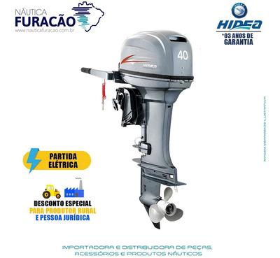 Motor De Popa Hidea 2 Tempos 40hp Fhes (partida Elétrica)