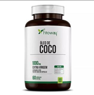 Oleo De Coco Extra Virgem Fitoway 1000mg 60 Caps