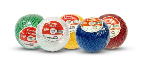 24 Ovillos De 200 M Cordel Plástico Multicolor