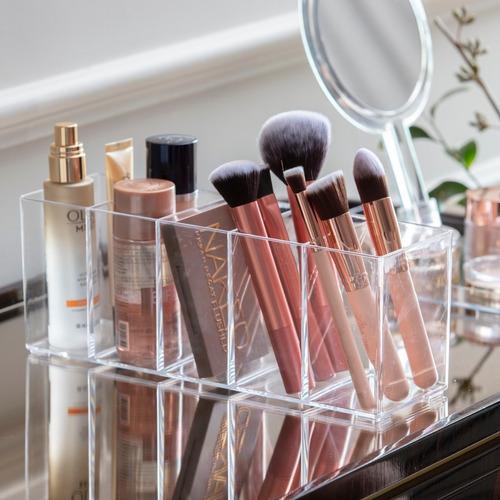 Imagem 1 de 5 de Organizador Pincéis Maquiagem Cosméticos (5 Divisórias) 1252