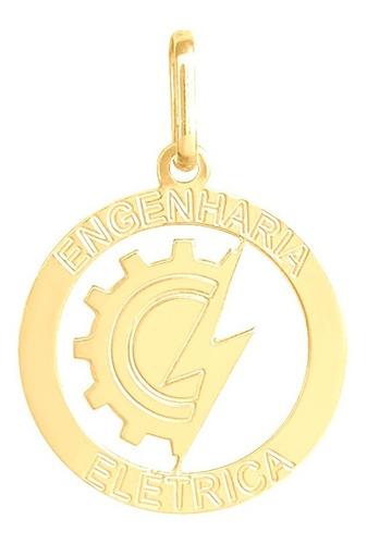 Pingente Ouro 18k Profissão Engenharia Elétrica 18mm