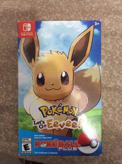 Pokemon Lets Go Eevee Edición Pokeball Plus Solo Caja