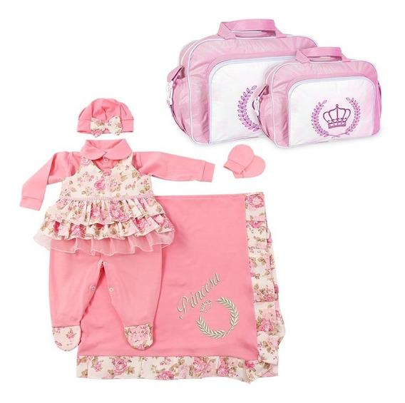 Saída De Maternidade Menina Floral + Kit Bolsa Maternidade