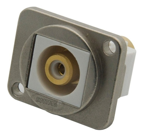 Conector Rca Tipo D Metal Extensão Parafusar Parede