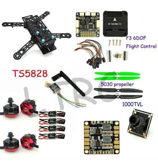 Drone Qav280 Pro + Oculos Vr007 Eachine + Câmera Fpv