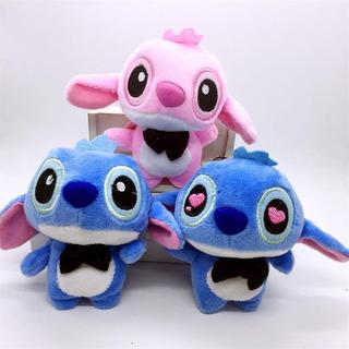 10 Pzas Kawaii Stitch Rosa Y Azul
