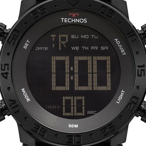 Relógio Masculino Preto Digital Cronógrafo Bjk006aa/4p C/ Nf