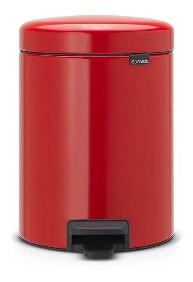 Lixeira Em Aço Inox 5 Litros New Icon Brabantia Vermelha