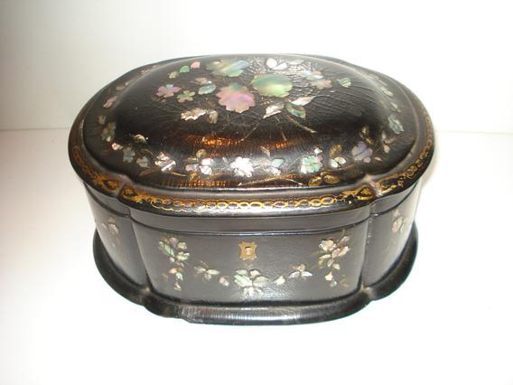 Rdf01462 - Caixa Chinesa Chinoiserie Chá Madrepérola Xix