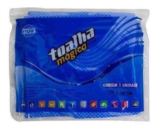 20 Toalha Magica Multiuso Azul 75x20cm P/ Lava Jato + Econom