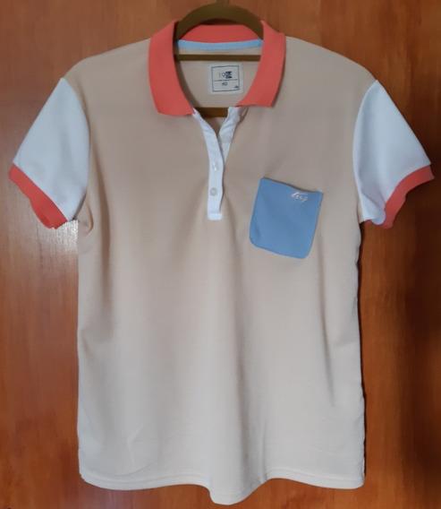 Camiseta Polo Tng - Bege Branco - Feminino