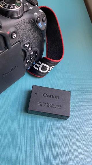 Câmera Cânon Rebel T6i 24mp