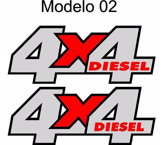 Adesivo 4x4 Power Troller Gasolina Diesel - Envio Grátis Br