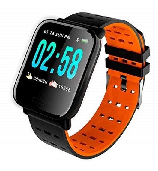 Relógio Inteligente Smart Bracelete Batimentos E Pressão A6