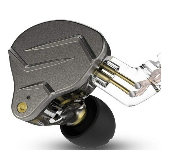 Fone In Ear Kz Zsn Pro Monitor Retorno S/mic Cinza