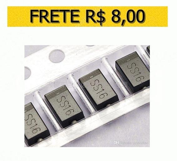 Diodo Smd Ss16 Schottky 1a 60v Original - Lote 5 Unidades